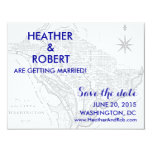Washington DC Map Save the Date (gray map) Custom Announcement