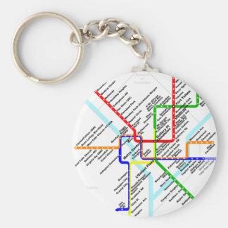 Washington dc metro Keychain