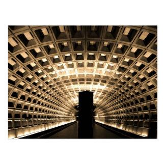 Washington DC Metro Station Postcard