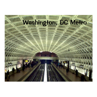 Washington DC Metro Station Post Card