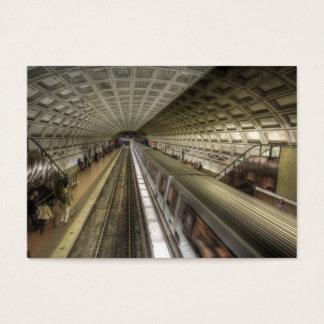 Washington DC Metro Train Station Business Card