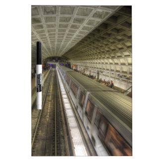 Washington DC Metro Train Station Dry-Erase Board