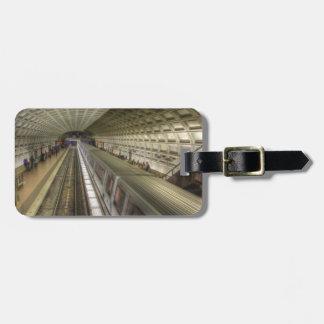 Washington DC Metro Train Station Luggage Tag