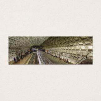 Washington DC Metro Train Station Mini Business Card