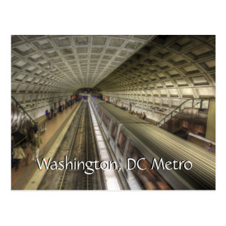 Washington DC Metro Train Station Postcard