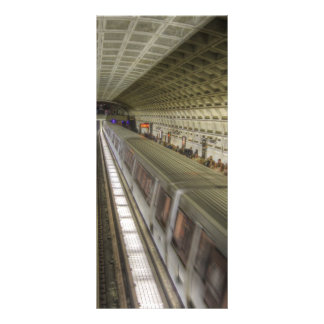 Washington DC Metro Train Station Custom Rack Card