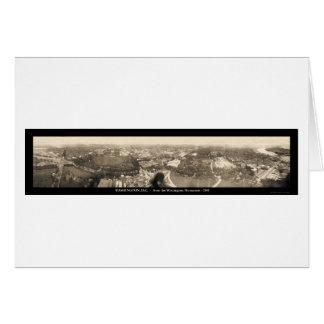 Washington DC Monument Photo 1905 Greeting Card