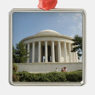 Washington, DC. Monumento de Thomas Jefferson Adorno Navideño Cuadrado De Metal