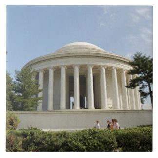 Washington, DC. Monumento de Thomas Jefferson Azulejo Cuadrado Grande