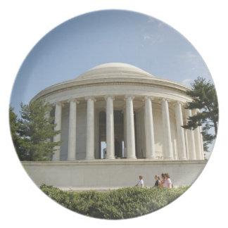 Washington, DC. Monumento de Thomas Jefferson Platos De Comidas