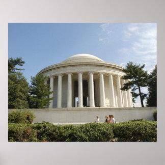 Washington, DC. Monumento de Thomas Jefferson Póster