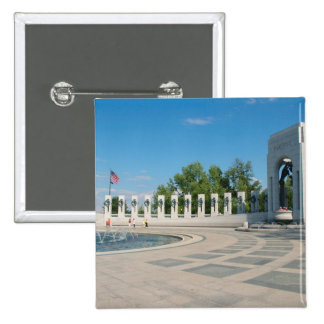 Washington, DC, monumento nacional de WWII Pin Cuadrada 5 Cm
