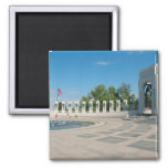 Washington, DC, National WWII Memorial 2 Inch Square Magnet