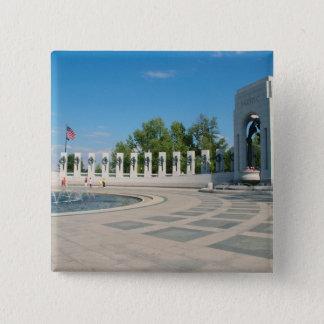 Washington, DC, National WWII Memorial Pinback Button