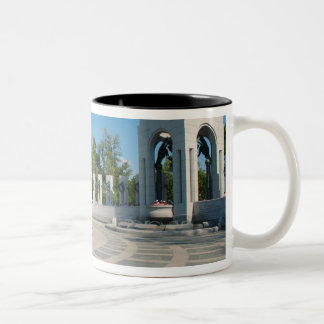 Washington, DC, National WWII Memorial Two-Tone Coffee Mug