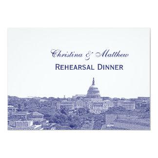 Washington DC Navy Skyline Silhouette Rehearsal Dn Card