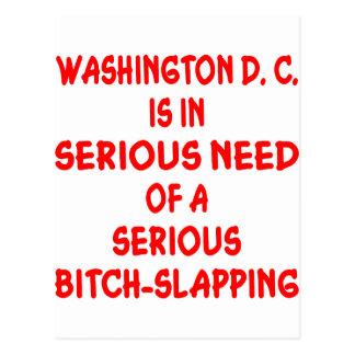 Washington DC Needs Seriously Bitch-Slapped Postcard