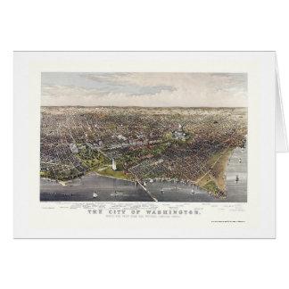 Washington, DC Panoramic Map - 1880 Card