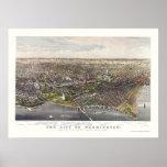 Washington, DC Panoramic Map - 1880 Poster
