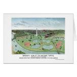 Washington, DC Panoramic Map - 1888 Greeting Card
