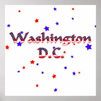 Washington DC Patriotic Stars Poster