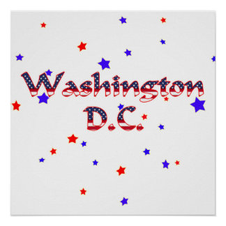 Washington DC Patriotic Stars Posters