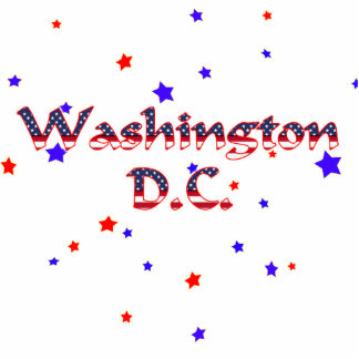Washington DC Patriotic Stars Statuette
