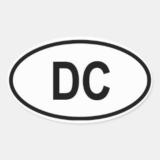 "Washington ""DC "" Pegatina Ovalada"