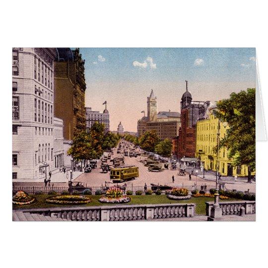 Washington DC Pennsylvania Avenue Card