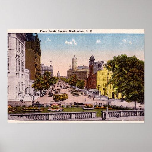 Washington DC Pennsylvania Avenue Poster