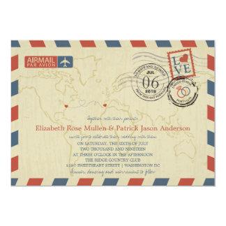 Washington DC / Portugal Airmail   Wedding Card