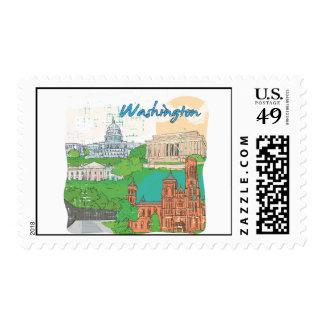 Washington DC Postage Stamp
