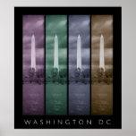 Washington DC - poster de los 4 paneles