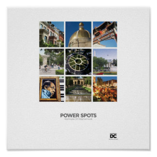 Washington, DC Power Spots Poster
