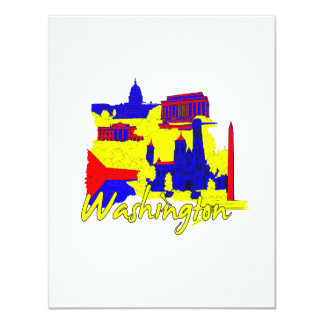 washington dc primary america city travel vacation custom invitations