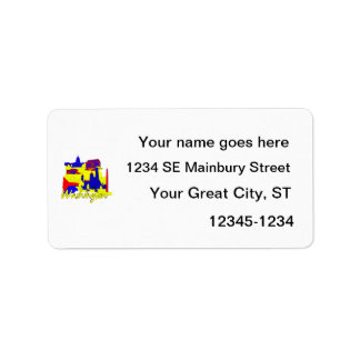 washington dc primary america city travel vacation custom address labels