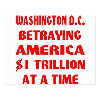 Washington DC que traiciona América $1 trillón en Postal
