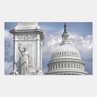 Washington DC Rectangular Sticker