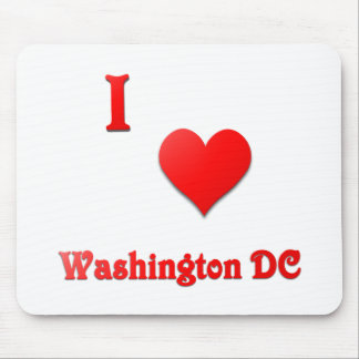 Washington DC -- Red Mouse Pad