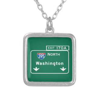 Washington, DC Road Sign Pendant