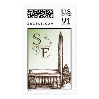 Washington DC S and E monogram Postage
