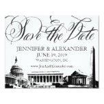 Washington DC Save the Date - Vintage Monuments 1 Card