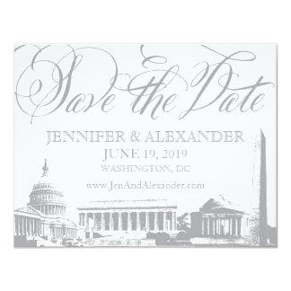 Washington DC save the date - Vintage Monuments 2 Personalized Announcement