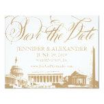 Washington DC save the date - Vintage Monuments 3 4.25x5.5 Paper Invitation Card