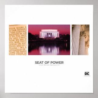 Washington, DC Seat of Power Poster