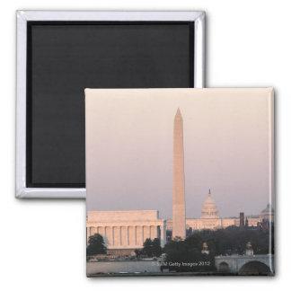 Washington, DC Skyline 2 Inch Square Magnet