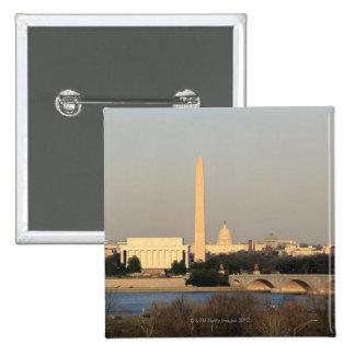 Washington DC Skyline Button