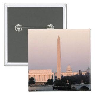 Washington, DC Skyline Button