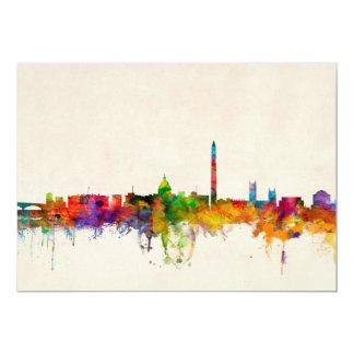 Washington DC Skyline Cityscape Card