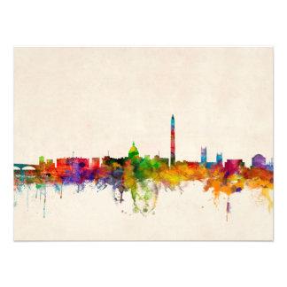 Washington DC Skyline Cityscape Photo Print